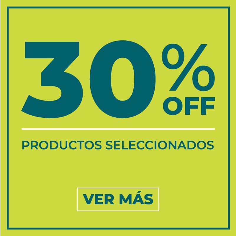 30% off productos seleccionados