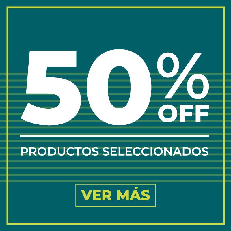 50% off productos seleccionados