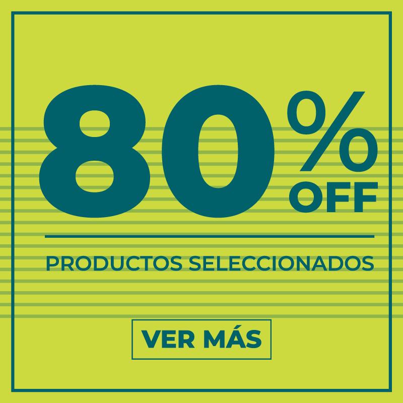 80% off productos seleccionados
